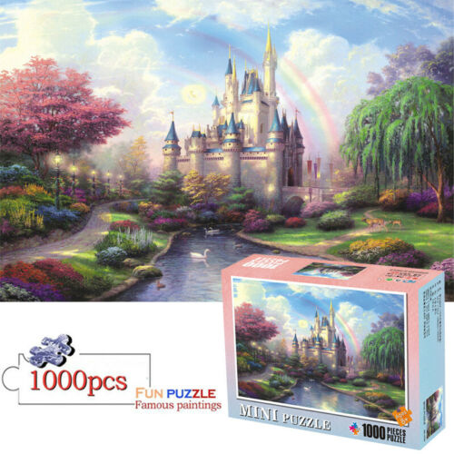 1000 Pieces Fantasy Castle Mini Jigsaw Puzzles Educational Toys Tradition Boxed