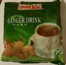 Gold Kili Natural Instant Ginger Tea Drink, 360g Bag (20 Sachets) fast shipping.