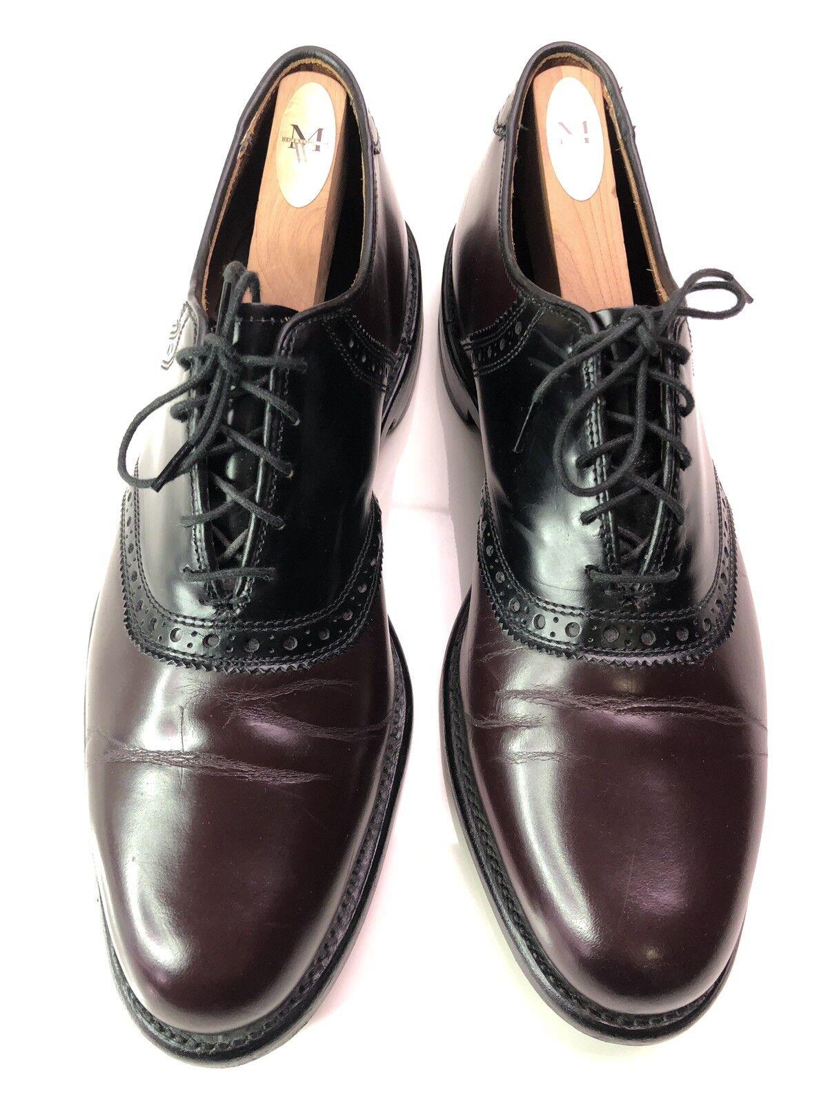 negozio d'offerta Allen Edmonds Shelton Uomo scarpe Burgundy Burgundy Burgundy nero Oxfords Lace Up Dimensione 9.5  spedizione gratuita
