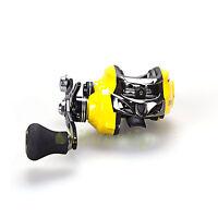 14 Bb 7.0:1 Baitcasting Fishing Reel Bait Caster Single Power Handle Yellow Dmk