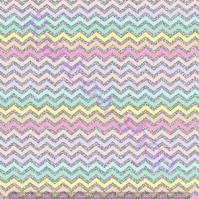Pastel Unicorn Fabric Sheet Crafts Bows UK Based Free Uk Shipping
