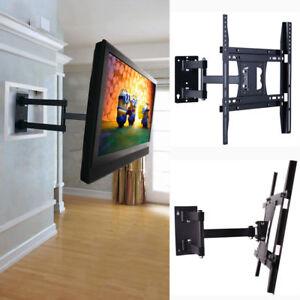Image Is Loading Long Arm Articulating Corner Tilt Swivel Tv Wall