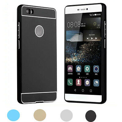 Metal Bumper Case+ PC Acrylic Back Cover Case For HUAWEI Ascend P8 Lite HOT
