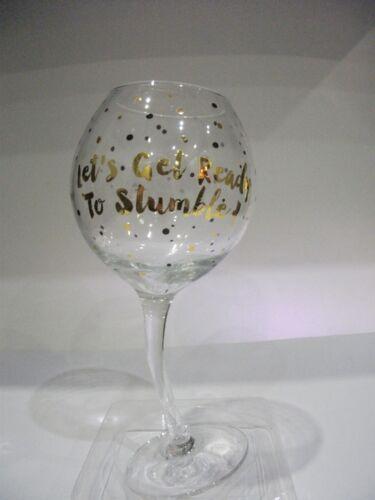 Gold Edition inclinada Let/'s Get Ready Copa De Vino Cumpleaños Regalo anniversarywedding