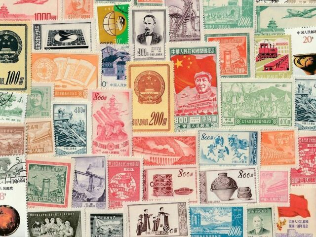 China : 100 Different Stamps Collection