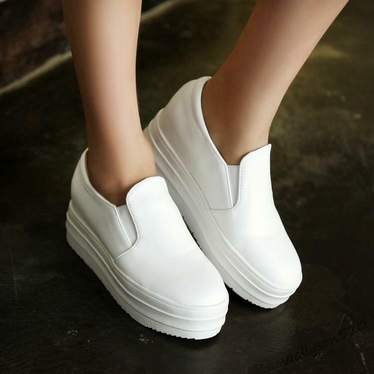 Fashion Women's Slip-On Leisure Comfort platform shoes Sneakers Loafers new