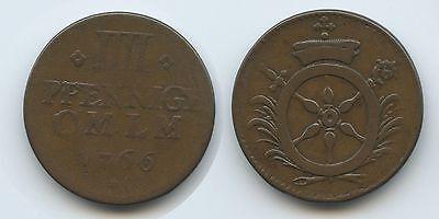 G6957 - Mainz 4 Pfennig 1766 Emmerich Joseph Von Breitbach-bürresheim 1763-1774