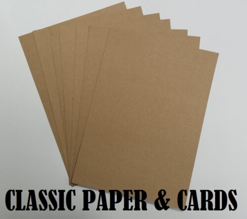 A2 QUALITY 100/% RECYCLED BROWN 280GSM KRAFT CARD-IDEAL FOR CRAFT//WEDDINGS