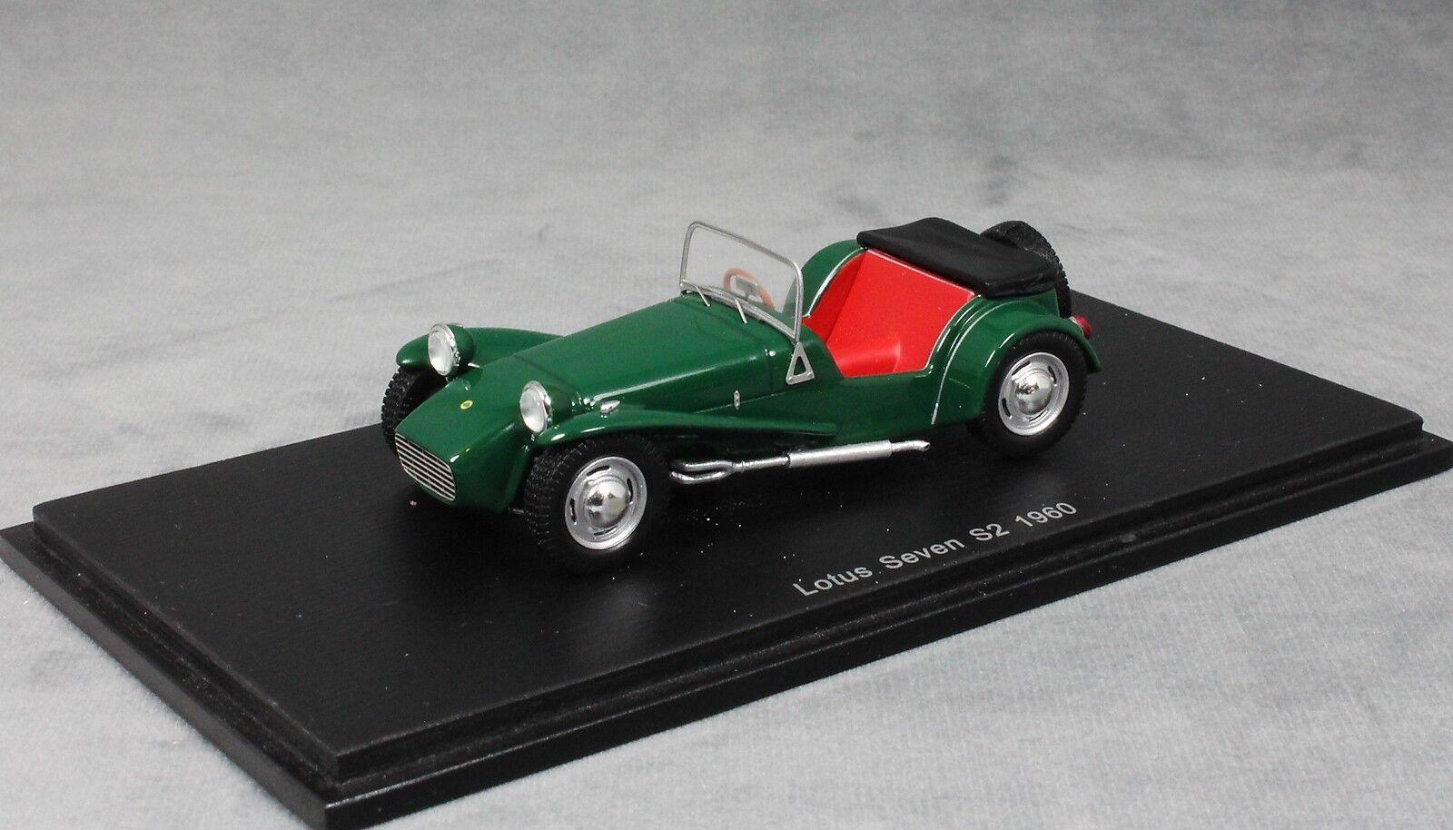 SPARK Lotus Seven S2 Lotus 7 S2 En Vert 1960 S2222 1 43 NEUF pas Caterham 7