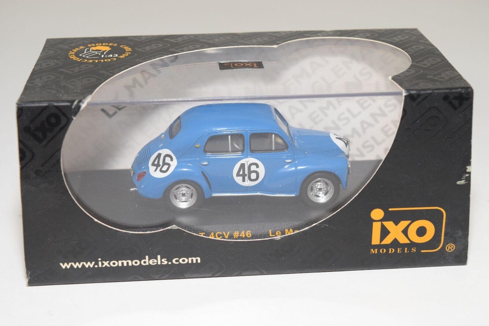 . IXO LM047 RENAULT 4CV LE MANS 1950 blueE MINT BOXED