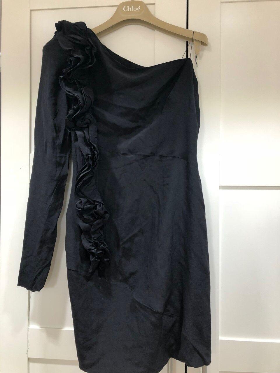 Robert Rodriguez Rodriguez Rodriguez Ruffle 100% Silk Dress Size 2 RRP 834f5b