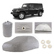 Jeep Wrangler 6 Layer Car Cover Fitted Water Proof Outdoor Rain Snow Sun Dust Fits Jeep