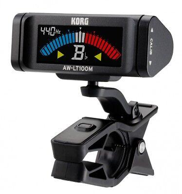 KORG AW-LT100M Clip-on Tuner Stimmgerät für orchestrale Instrumente schwarz