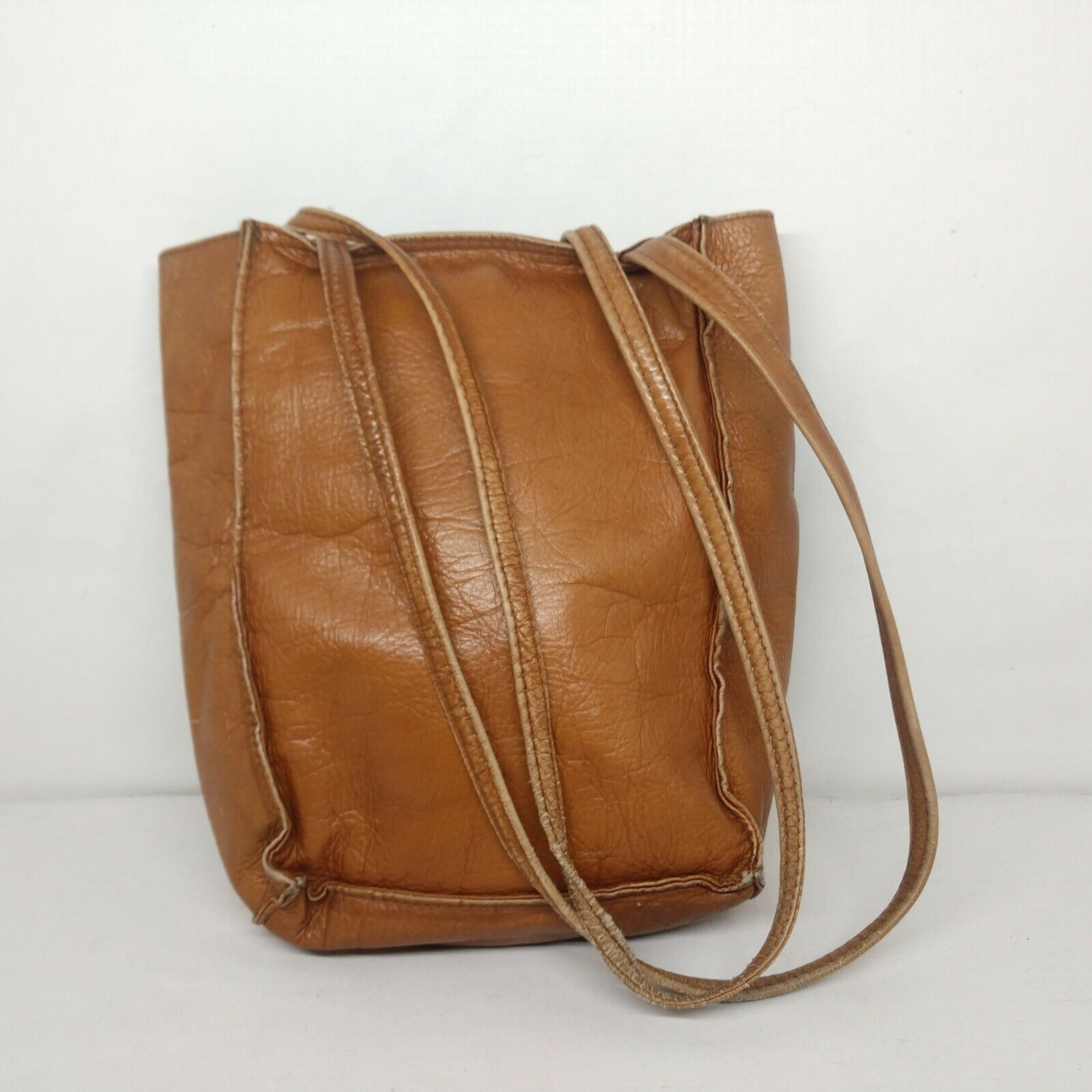 Unbranded Women's Tan Genuine Leather Square Boho… - image 2