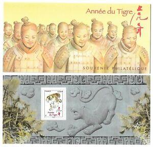 Timbres-France-Bloc-Souvenir-2010-N-47-Annee-Lunaire-Chinoise-du-Tigre