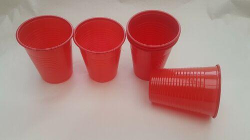 200x en plastique rouge MENAGERE tasses 200 ml pour Fête et tout occasion