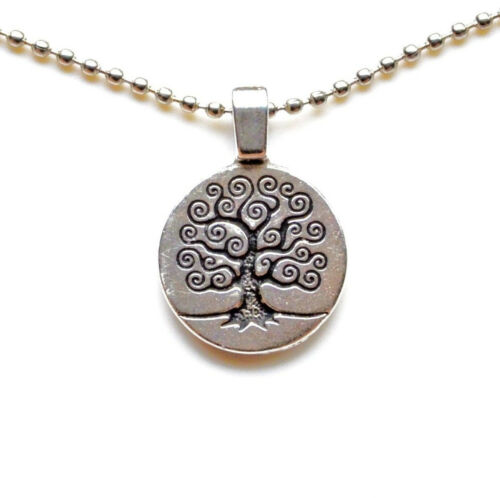 Celtic Tree Pendant with Adjustable Chain Necklace