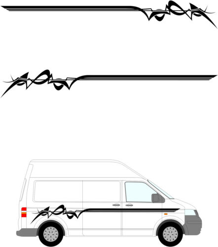 652 Decals // Stickers. Motor Home Vinyl Graphics Kit Camper Van Graphics