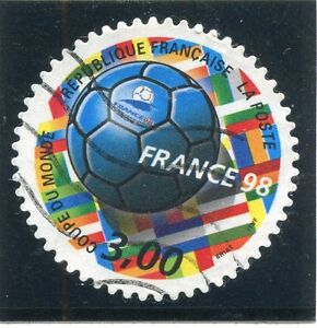 TIMBRE-FRANCE-OBLITERE-N-3140-FRANCE-98-FOOTBALL-Photo-non-contractuelle