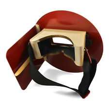 Wendys Pancake Welding Hood Helmet With Strap Right Handed Red