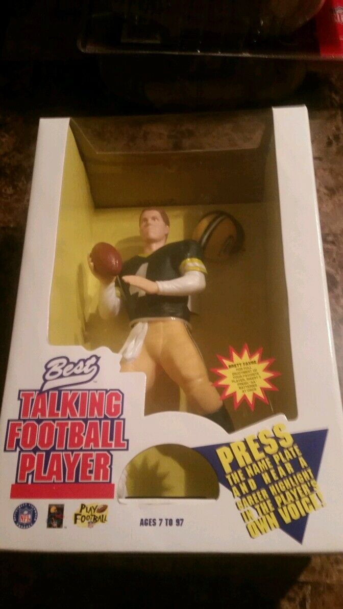 BRETT FAVRE GREEN JERSEY NFL Best 10  Talking Football Player 1996
