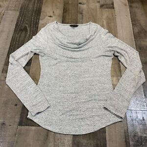 Banana Republic Adult Womens Size XS Cowl Neck Long Sleeve Pullover Gray Top