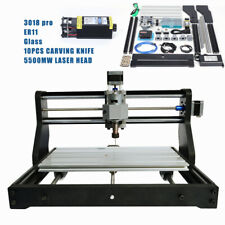 3 Axis Cnc 3018 Pro Router Engraving Wood Pcb Milling Machine 5500mw Laser Head