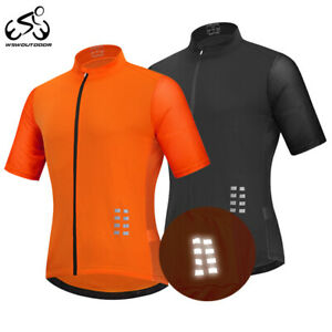 Mens-Cycling-Jersey-Short-Sleeve-MTB-Bike-Riding-Sport-Breathable-Tops-Quick-Dry