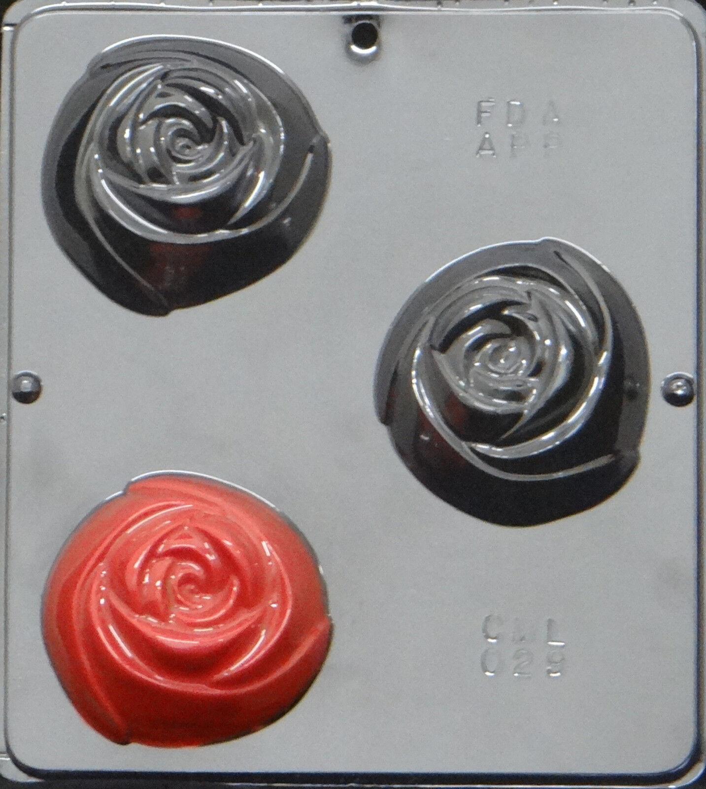 25 Rose 3  Moule pour savon ou Chocolat Candy Mold + livraison gratuite 029 nouveau