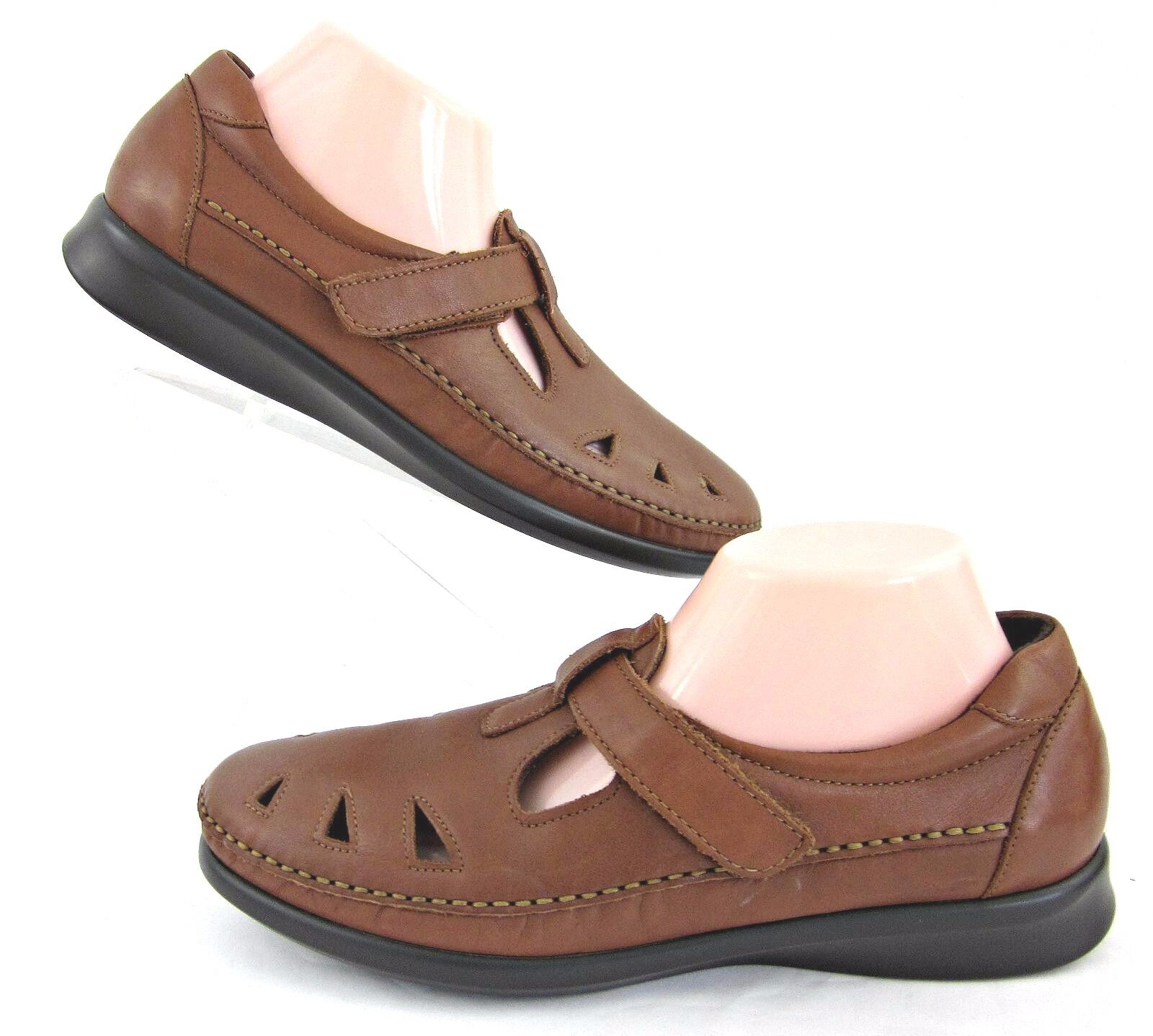 SAS Womens 'Roamer' Slip On Tripad Comfort shoes Chestnut Leather Sz 10N
