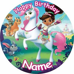 Outstanding Nella The Princess Knight Birthday 8 Icing Cake Topper Ebay Funny Birthday Cards Online Eattedamsfinfo