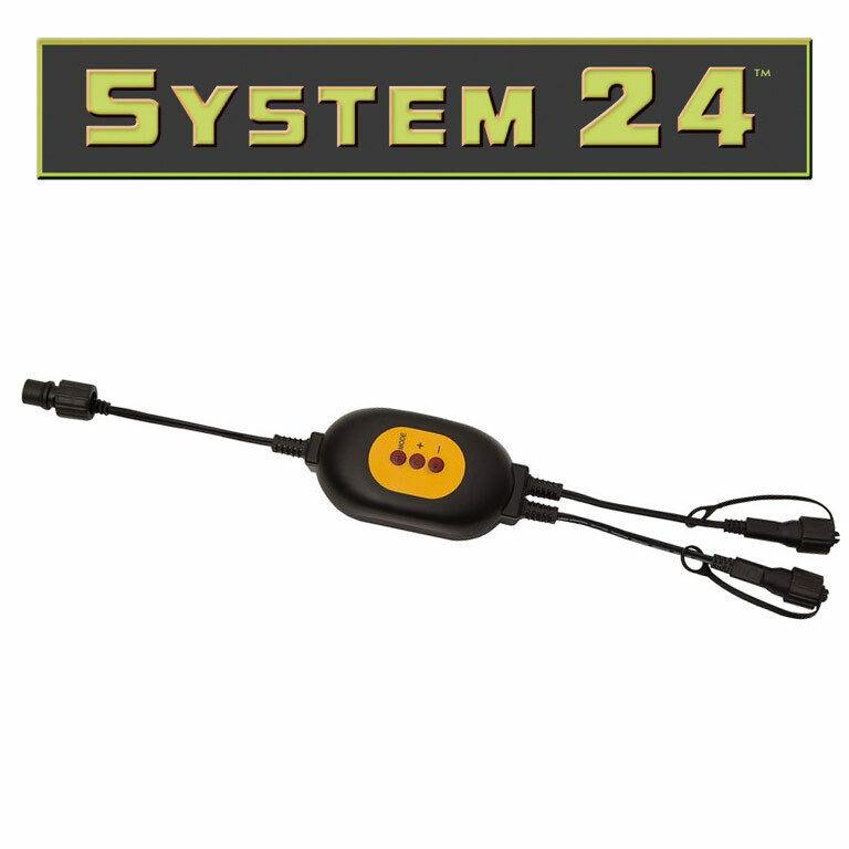 System 24   WiFi-Controller     koppelbar   2x Ausgang    Maßstab ist der Grundstein, Qualität ist Säulenbalken, Preis ist Leiter  6b9355