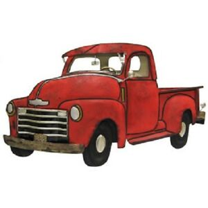 Details about Large Red Vintage Truck Metal Sign superior quality decor  wall art home decor