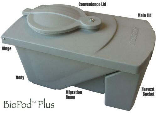 BioPod Plus: Compact Bioconversion Grub (BSF) Digester / Composter