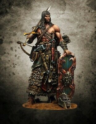 1:24 75mm Resin Figure Model Kit Warrior Barbarian Hagbard Unassembled Unpainted
