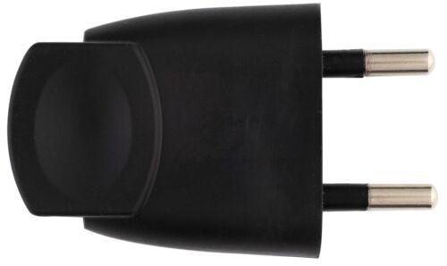 Mâle Fiche plastique 2P-6 A Dhome Noir