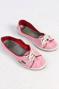 Lacoste-Enfiler-Cool-Loisirs-Chaussures-Quotidien-Baskets-aucune-fermeture-Rose-UK-5-S244