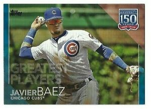 Details about 2019 Topps Update 150 Years Of Baseball Blue Javier Baez #21