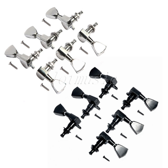 electric guitar tuning pegs machine heads for gibson les paul 6r6l chrome black for sale online. Black Bedroom Furniture Sets. Home Design Ideas