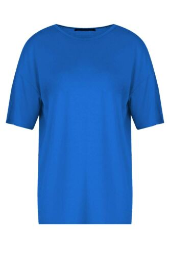 Plus Size Tee Ladies Womens Stretchy Jersey Casual Oversized Baggy T Shirt Top