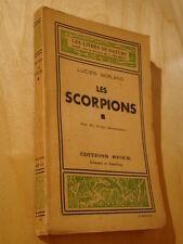 Berland Les Scorpions 1945 10 dessins documentaires Venin Scorpions d'Autrefois