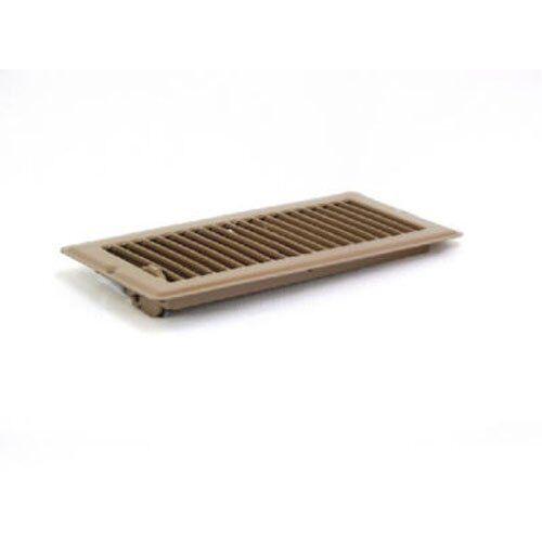 V103B Metal Mobile Home Floor Register with Damper to Adjust Air Flow