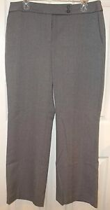 Womens-ANN-TAYLOR-LOFT-GRAY-Tweed-DRESS-PANTS-sz-12-PETITE-Short-12P-NEW-Slacks