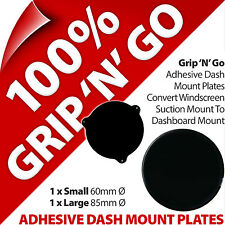 Pama Adhesive Dash Dashboard Plates Suction Cup Disks Mobile Smart Phone Sat Nav