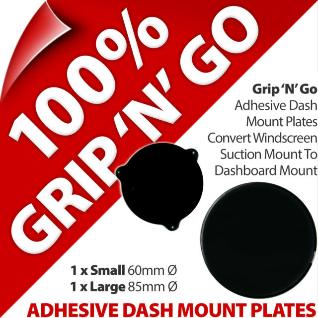 2 Pama Adhesive Dash Dashboard Plates for Suction Cup Mobile Smart Phone Sat Nav