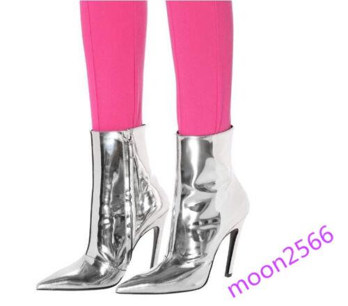 pelle in lucida Womens a Midway appuntite Chic Runway Stiletto scarpe punta SRdwgq5c