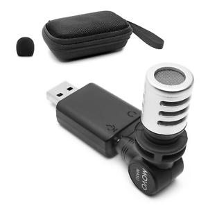 Movo MA5U Mini Omnidirectional Microphone for USB, Computer, PC, Laptop, Gaming