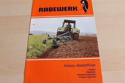 Anbau-beetpflug Rabewerk Hard-Working 144304 Zeisig Sperber Fasan Prospekt 01/1982 Modern Design
