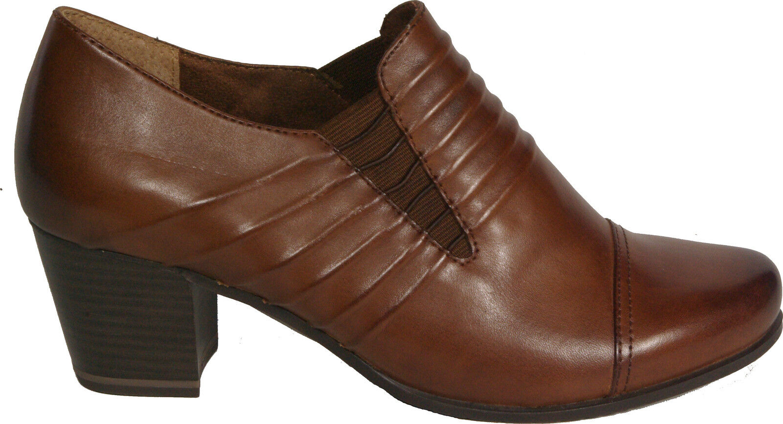 Tamaris shoes High Front Pumps Brown (Muscat) REAL LEATHER NEW