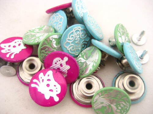 100PS colorful jean buttons JEAN TACKS STUDS BUTTONS Jean button replacement